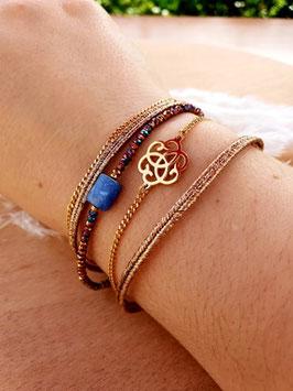 Bracelet multi-rangs Chance Doré Violet