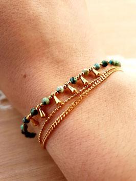 Bracelet Triple Rangs Hécate Turquoise