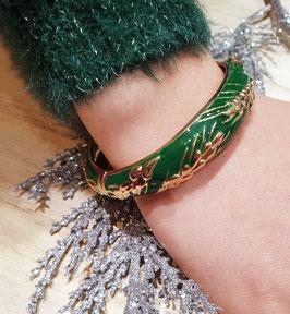 Bracelet Epi de Blé Vert