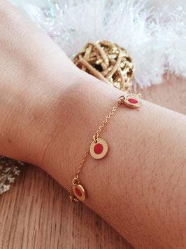 Bracelet Pampilles Frida Rouge Noël