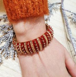 Bracelet Grand Pois Rouge