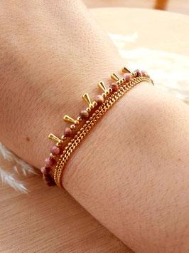 Bracelet Triple Rangs Hécate Tourmaline