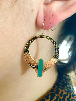 Boucles d'oreilles Kassia Vert