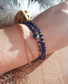 Bracelet multi-rangs Iseult Doré Marine