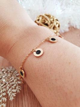 Bracelet Pampilles Frida Noir