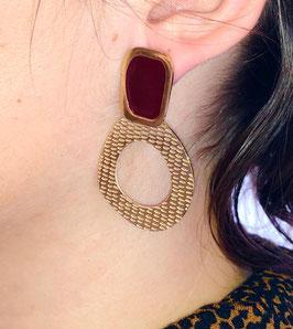 Boucles d'oreilles Elina Bordeaux