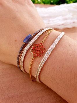 Bracelet multi-rangs Chance Doré Blanc