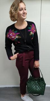 Pantalon Angela Bordeaux