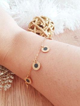Bracelet Pampilles Frida Gris