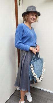 Jupe Midi Emy Bleu