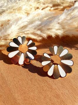 Boucles d'oreilles Gaïa Blanc