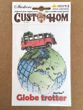 Sticker Globe Trotter 10x15