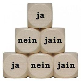 Ja-Nein-Jein  Würfel aus Holz