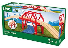 Bahnbrücke mit Auffahrten - Curved Bridge