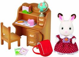 Schokoladenhasen  Schwester-Set mit Schreibtisch