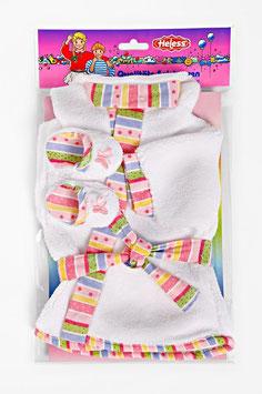 Flauschiger Bademantel mit passenden Pantoletten, Größe: 35-46 cm