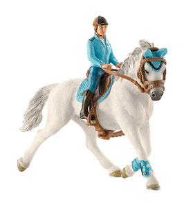 Turnierreiterin - mit Pferd