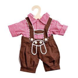 Lederhose Kniebundhose mit Hemd für Puppe gr. 28 - 33
