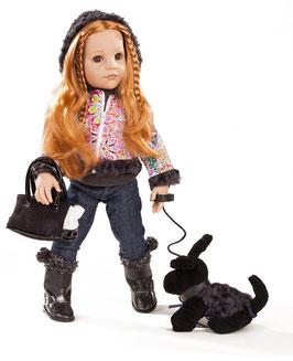 Hannah und ihr Hund, 50 cm, rote Haare, braune Augen, 12-teiliges Set