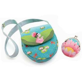 Tasche mit Geldbörse  Wasserlilie