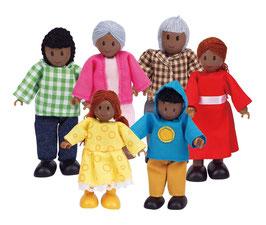 Puppenfamile - dunkel Haut