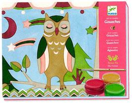 Gouaches Tiere -  Malen nach Zahlen