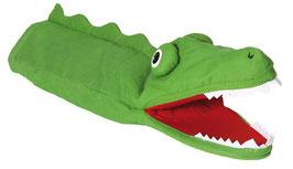 Krokodil - hellgrün Handpuppe