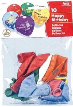 10 Happy Birthday Ballon