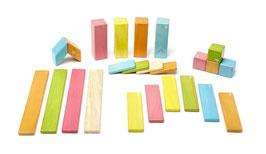 Holzset farbig - 24 teilig Magnetische Holzbausteine