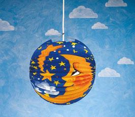 Lampion Mond und Sterne
