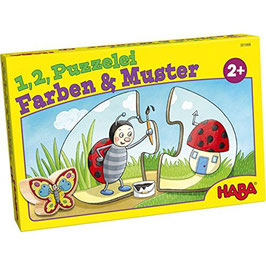 1,2, Puzzelei - Farben Muster Puzzle