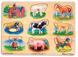 Sound Puzzle Farm Tiere Bauernhof