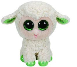 LaLa Lamm - weiss mit grünen Hufen / 24cm  - Beanie Boos