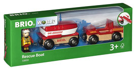 Feuerwehr-Boot mit Transporter - Rescue Boat