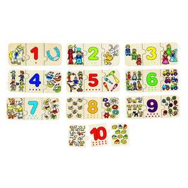 Puzzle zählen und zuordnen
