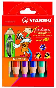 STABILO woody 3 in 1 6er Etui