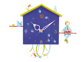 Uhr mit Nummern - le Garcon et le Chat