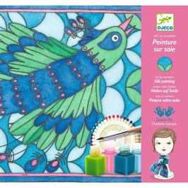 Seidenmalerei: Peacock Pfau