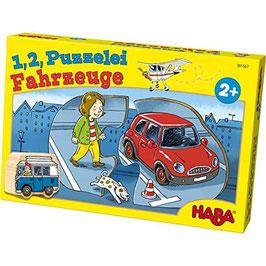 1,2, Puzzelei Fahrzeuge Puzzle  Haba