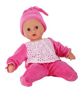 Muffin  33cm,  ohne Haare pink bekleidet, Klimperaugen