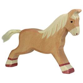 Pferd, hellbraun - laufend