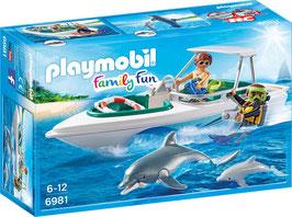Tauchausflug mit Sportboot
