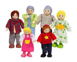 Puppenfamile, helle Haut