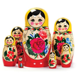 Matrioschka 7-teilig - Russenpuppe