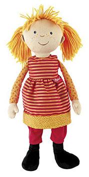 Puppe groß orange gelb 43cm