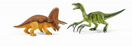 Triceratops und Therizinosaurus - klein