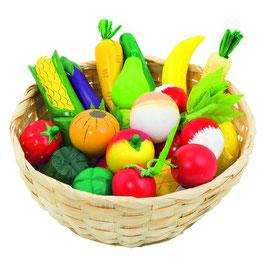 Obst & Gemüse Korb - 23-teilig