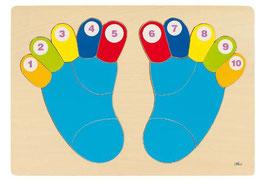 Füße Steckspiel - 16teilig