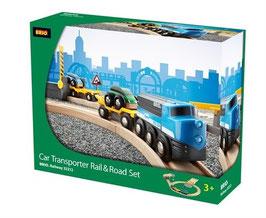 Autotransporter Schienen und StrassenSet