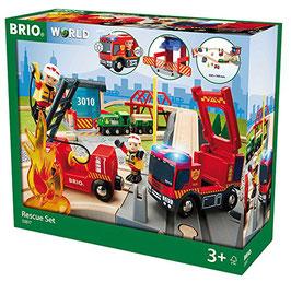 Großes Gr. Feuerwehr - Deluxe Set Rescue Set